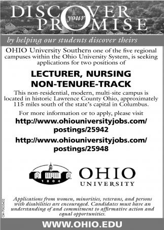 Lecturer, Nursing, non-tenure track