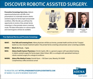 Discover Robotic Assisted Surgery Adena Health Systems