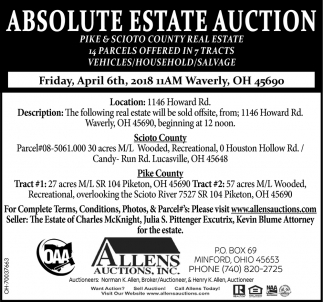 Absolute Estate Auction Real Estate