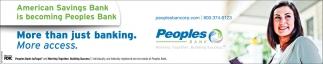 American Savings Bank is becoming Peoples Bank