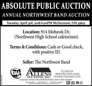 Annual Northwest Band Auction