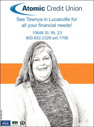 See Tawnya in Lucasville for all your financial needs