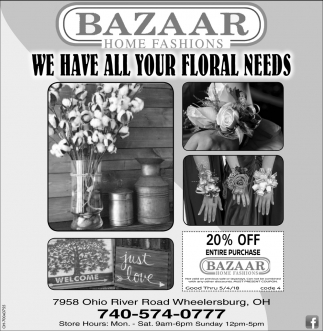 We have all your floral needs