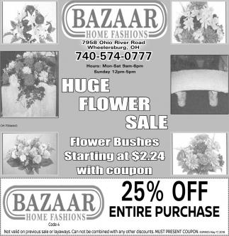 Huge Flower Sale