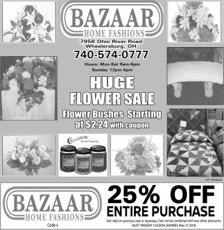 Huge Flower Sale
