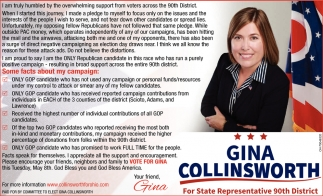 Vote Gina Collinsworth for State Representative