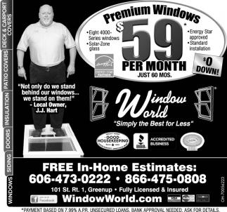Premium Windows $59 per month