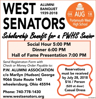West Senators Alumni Banquet