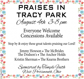 Praises in Tracy Park