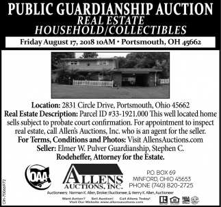 Public Guardianship Auction