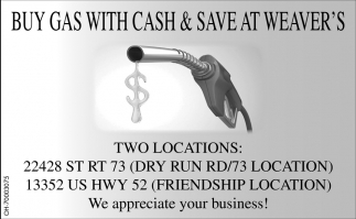 Buy gas with cash & save