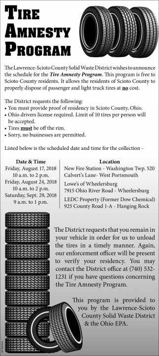 Tire Amnesty Program