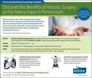 Robotic Surgery Adena Health Systems Chillicothe Oh