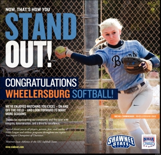 Congratulations Wheelersburg Softball