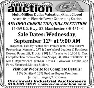 Multi-Million Dollar Valuation/Plant Closed