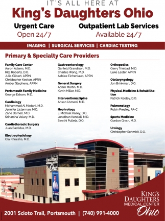 Urgent Care / Outpatient Lab Services