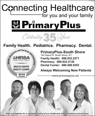 Family Health, Pediatrics, Pharmacy, Dental