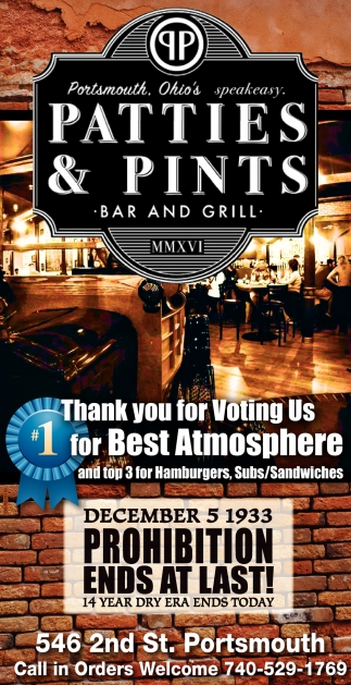 Thank you for voting us 1 for best atmosphere