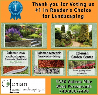 Thank you for voting us 1 for Landscaping