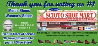 Thank you for voting us 1 Shoe Store