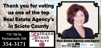 Thank you for voting us one of the top Real Estate Agency's in Scioto County