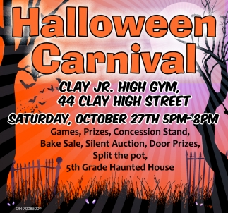 games, prizes, bake sale, haunted house, halloween carnival